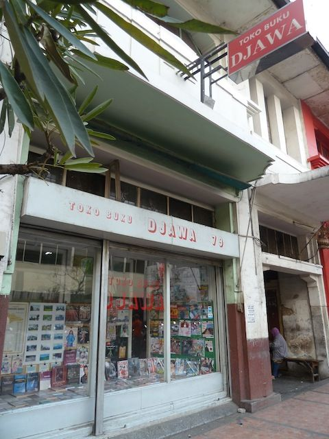 Finding Vintage In Bandung --an old bookshop at Braga street