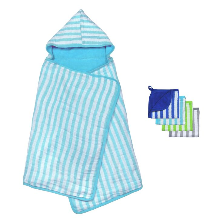 green sprouts® Muslin Toddler Towel & Washcloth Set Made From Organic Cotton