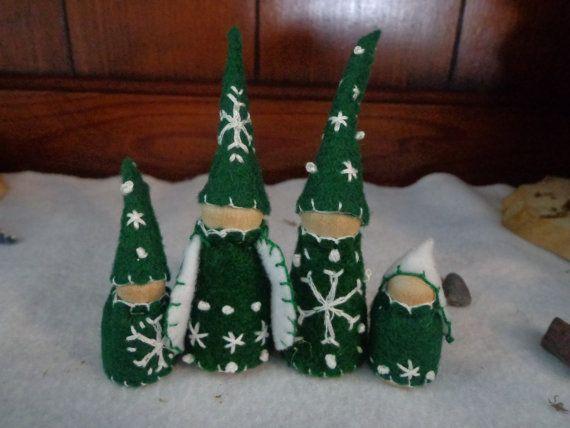 Snowflake Waldorf Winter Gnome Family