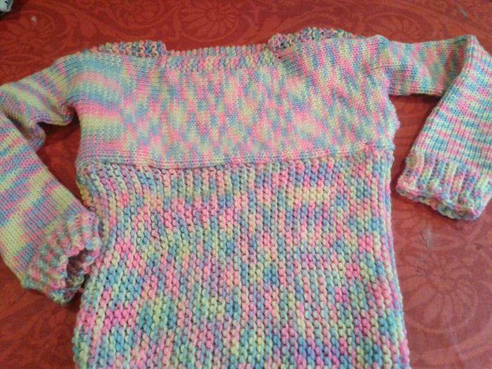 Jersey de lana tejido en telar por Cristina