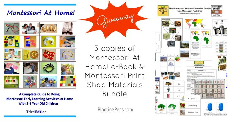 Montessori At Home! e-Book Review & Giveaway - Planting Peas
