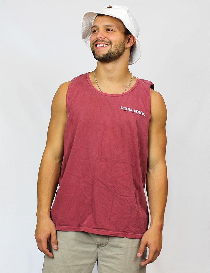 Keep it basic with the Texas State Bobcats in this Comfort Colors tank