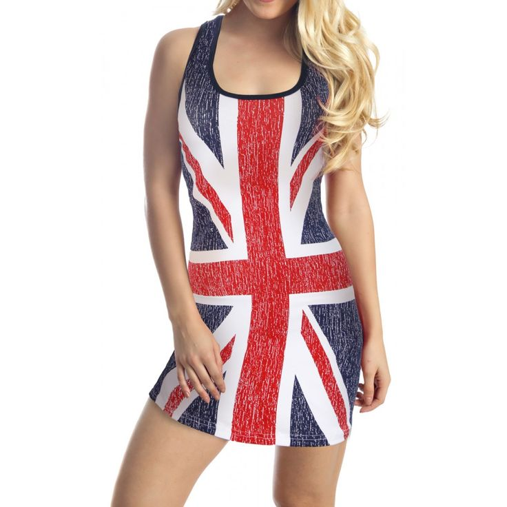 British Flag Tank Top Cover Up