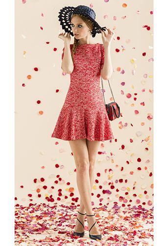 Adorable rosy dropwaist dress