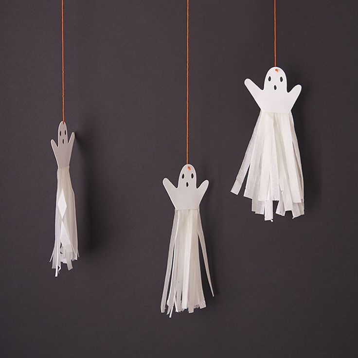 These Ghost tassels are so cute! Perfect for a spooky Halloween Party!!!