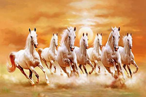 Read Seven Running Horses Painting Is Beneficial In Attaining Success And Power News Crab In 2020 Horse Wallpaper Horse Painting White Horses