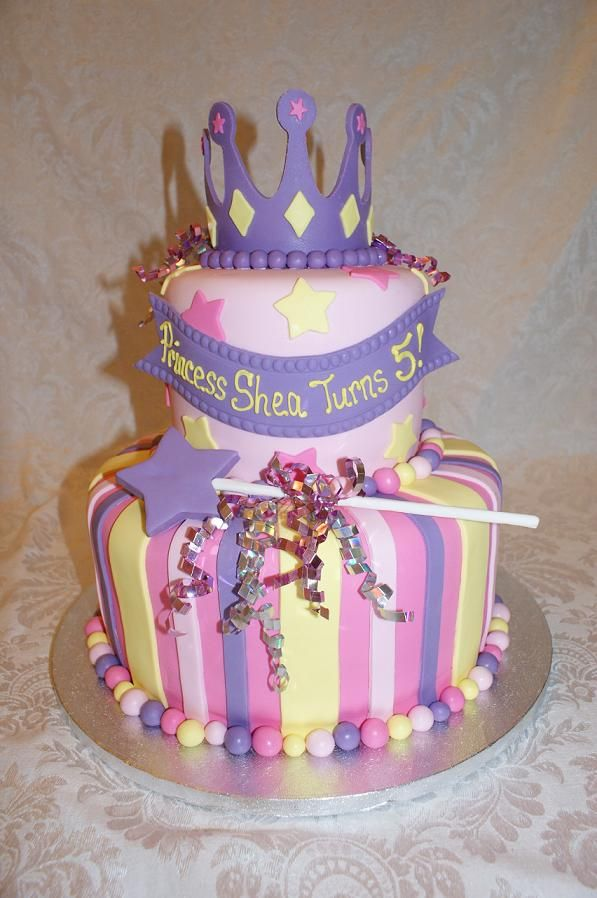 Best GirlyPrincessTutu Birthday Parties Images On Pinterest - Cakes for princess birthday