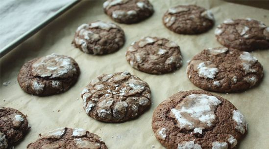 Chocolate Crinkle Cookies   Recipes - PureWow - love Rebecca Rather's recipes - sure this one will be a winner, too!