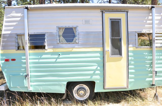 Now that's a paint job!! DIY Vintage Trailer Reveal!