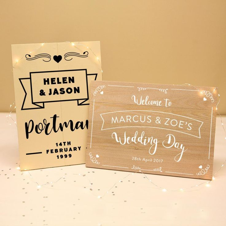 Personalised Wooden Wedding Plaque