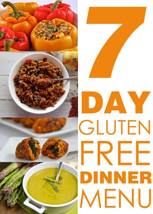 Going gluten free is easier than ever with menus like this--7 day Gluten Free Dinner Menu  #glutenfree #dinner #menu