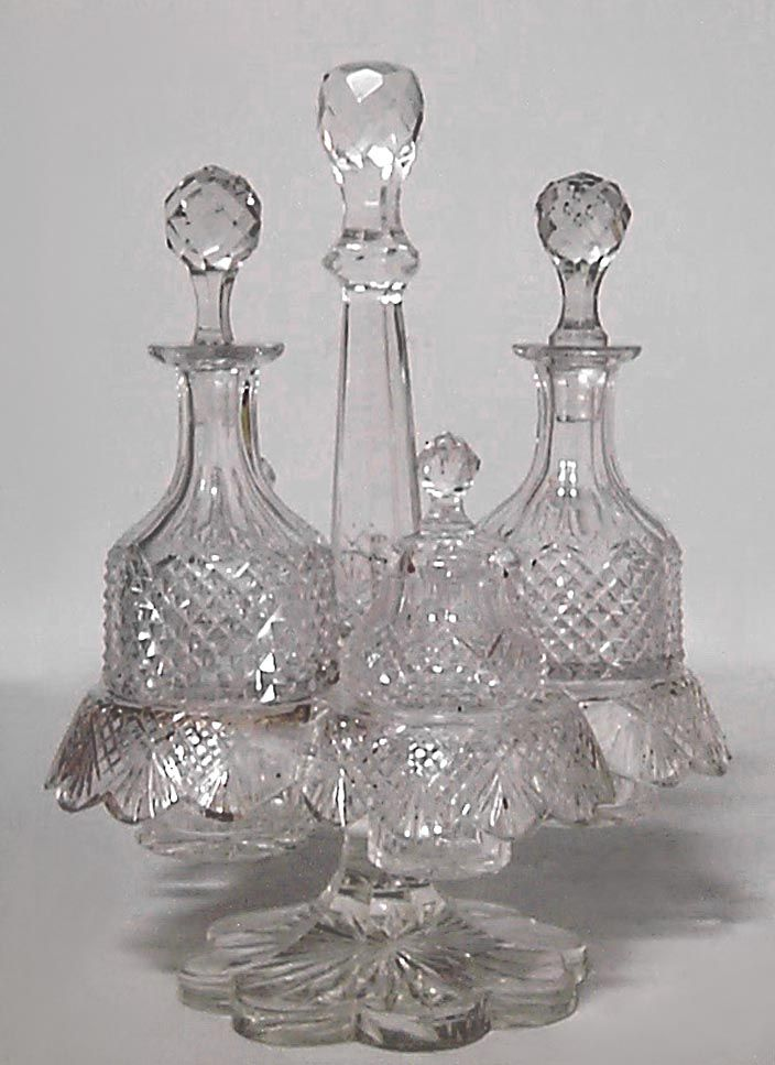 English Victorian accessories condiment set crystal