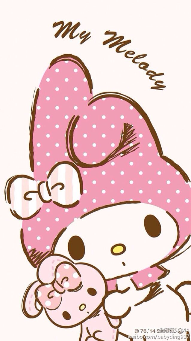 Pink My Melody phone wallpaper