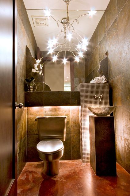 Contemporary Residential Houston Installation With A Stainless Steel Neo Metro Toilet Designer