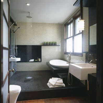 craftsman teahouse - modern - bathroom - dc metro - Gardner Mohr Architects LLC