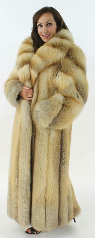 Golden Island Fox Fur Coat Bikini Futra Fur Coat Girls