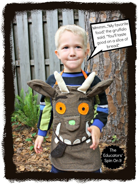 How to Make a Gruffalo Dress Up Apron for Creative Storytelling from The Educators' Spin On It