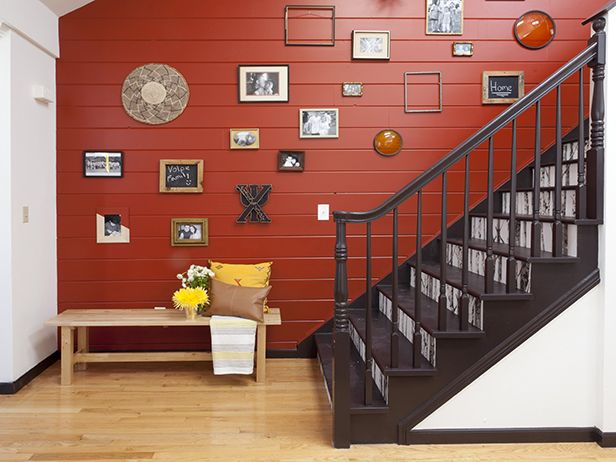 5 Tips for Creating the Perfect Art Gallery Wall (http://blog.hgtv.com/design/2014/08/27/create-a-gallery-wall-without-the-hassle/?soc=pinterest): Wall Colors, Hgtv Design, Decor Ideas, Cousins Undercov, Red Wall, Galleries Wall, Blog Design, Design Blog, Accent Wall