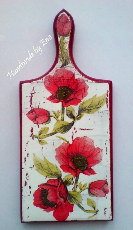 decoupage cutting board