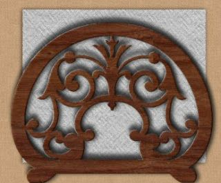 Free Scroll Saw Patterns: Victorian Napkin Holder