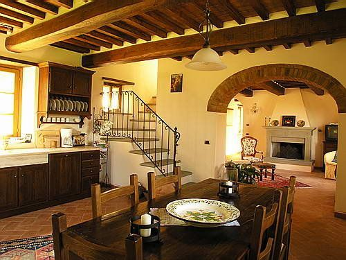... this kitchen and living room gives this living space a Italian & rustic ...