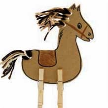 classic child art - the Clothespin Horse