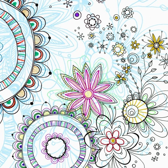 Pixie Flowers: Zendoodl Flowers, Artbook Inspiration, Doodles Flowers, Zendoodl Patterns, Zentangle Art, Heart Pixie, Art Prints, Flowers Doodles, Flowers Art