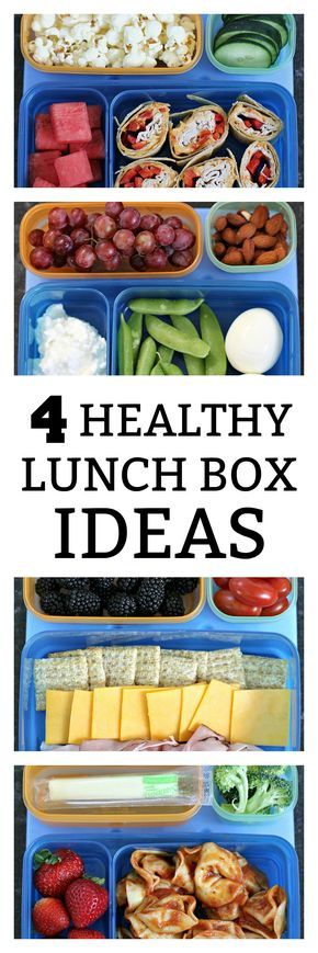 4 Healthy Lunch Box Ideas from SixSistersStuff.com | Back to School Lunches | Lunch Your Kids Will Love! | Healthy Lunch Ideas