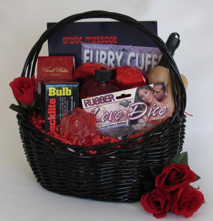 Cool Wedding Gifts For Young Couples: Naughty But Nice Gift Basket , $69