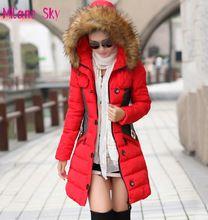 Brand New Winter Jacket Women Parka Coat Abrigos y Chaquetas Mujer Invierno 2015 Big Fur Collar Hood Clothing Anorak Jacket(China (Mainland))