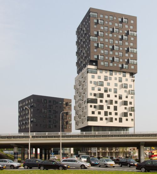 'la liberte' by Dominique Perrault architecture in Groningen, the Netherlands