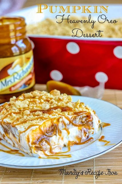 Pumpkin Heavenly Oreo Dessert on Mandy's Recipe Box #lovefallflavors