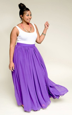 Empress Sheer Maxi Skirt - Multi Colors (Plus) by Youtheary Khmer | Plush Boutique