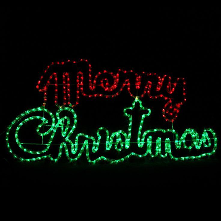 Solar LED Merry Christmas Ropelight Sign - Christmas Elves