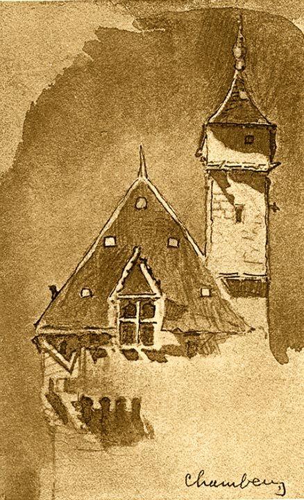 Towers, Chambéry by John Ruskin