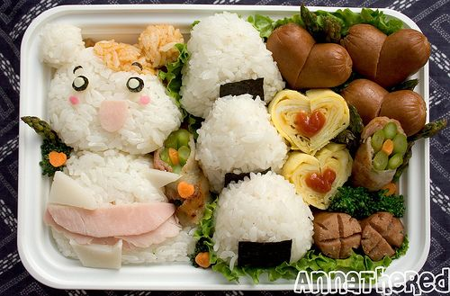 Bento #74: Oruchuban Ebichu by AnnaTheRed, via Flickr