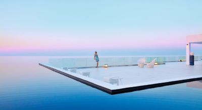 Unique luxury resort in Greece, like a White Palace...
