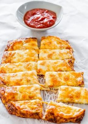 Cheesy Cauliflower Breadsticks gluten free and low carb | Jo Cooks by JustcallmeLOVE