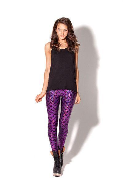 Mermaid Purple Leggings › Black Milk Clothing
