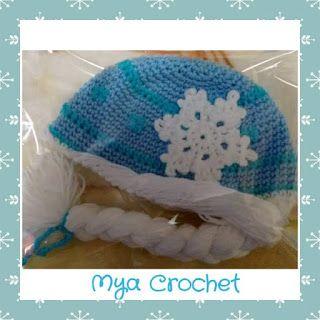 MYA CROCHET: Gorro Elsa