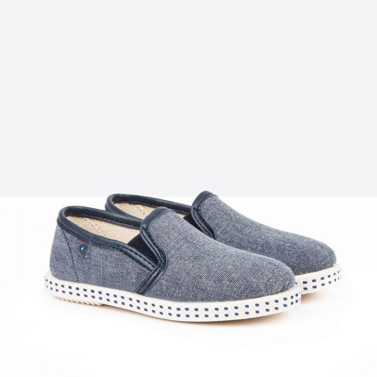 Zapatos de Niño Lona Azul - Calzado - Niño - Conguitos #conguitos #niño #shoes #collection #ss18 #zapatos #lona #azul