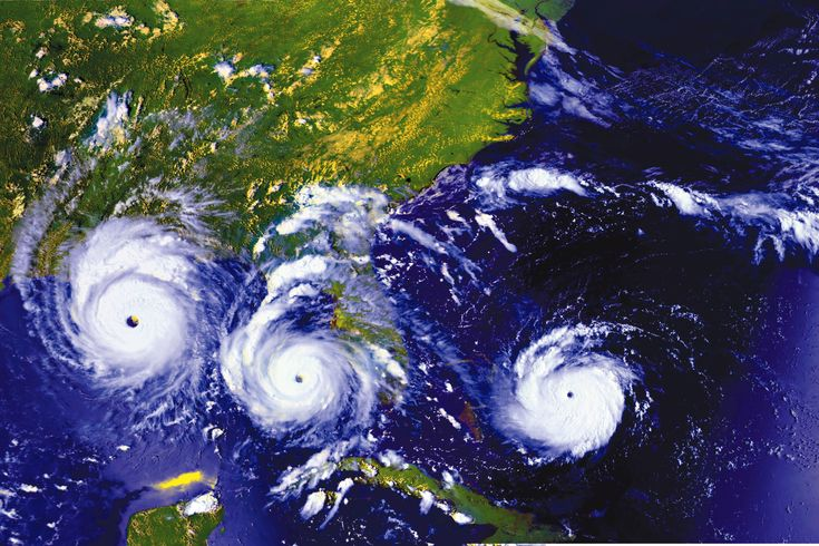 The 20th Anniversary of Hurricane Andrew. Three views of Andrew on 23, 24 and 25 August 1992 as the hurricane moves East to West. Image Credit: NASA