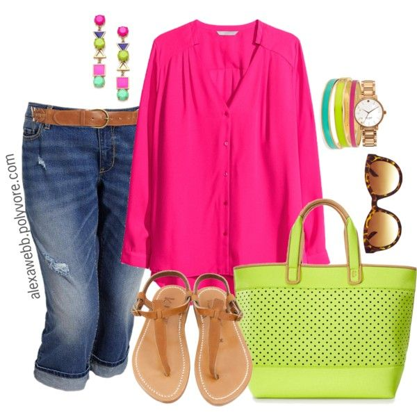 Plus Size - Neon Mix, created by alexawebb on Polyvore