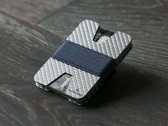 White carbon fiber wallet, men's wallet, women's wallet, credit card wallet, slim wallet, minimalist