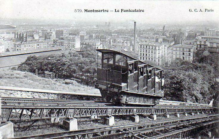 Funiculaire de Montmartre vers 1900