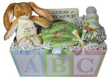 Baby Bath Gift Basket Guess How Much I Love You