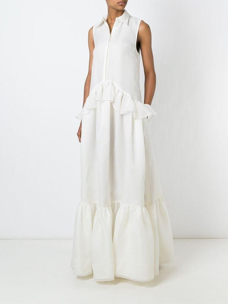 Rochas 러플 맥시 드레스
