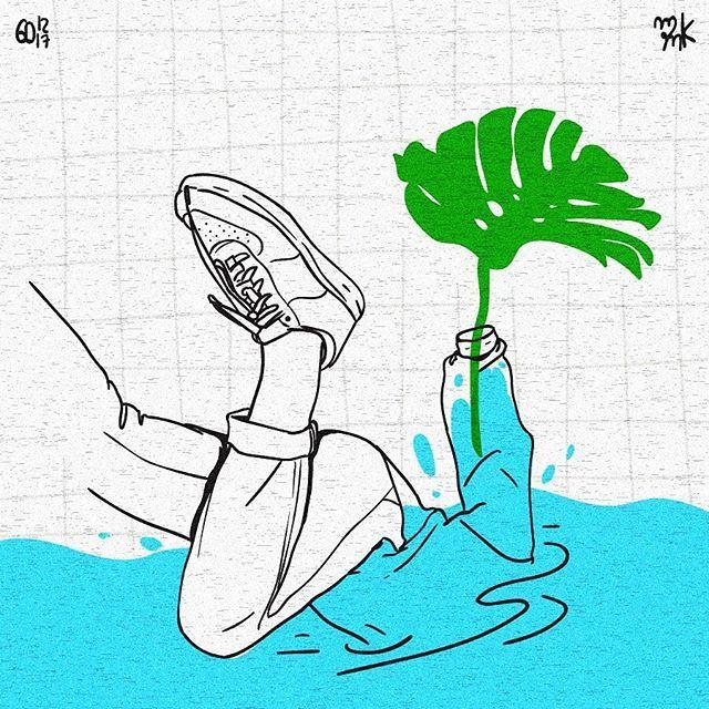 drowning.. #art #minimalist #linedrawing