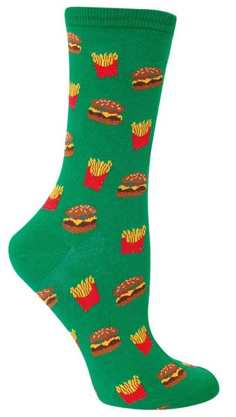 Do you want fries with that? The answer is always yes!  Fits women's shoe size 5-10.