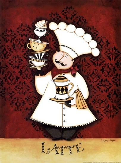 Chef Latte by Sydney Wright art print